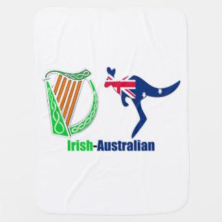 Irish Harp-Australia flag Baby-Blanket Stroller Blanket