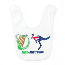 Irish Harp-Australia flag for Baby-Bib Baby Bib