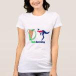 Irish Harp-Australia  Women's-jersey-T-Shirt-White T-Shirt
