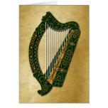 Irish Harp & Blessing - 2 Card