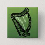 Irish harp button