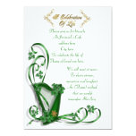 "Irish Harp ""Celebration of Life"" Invitation"