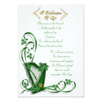 "Irish Harp ""Celebration of Life"" Invitation"