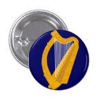 Irish harp emblem badge button