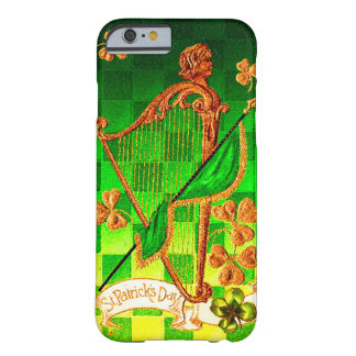 IRISH HARP, GREEN GOLD SHAMROCKS St Patrick's Day Barely There iPhone 6 Case