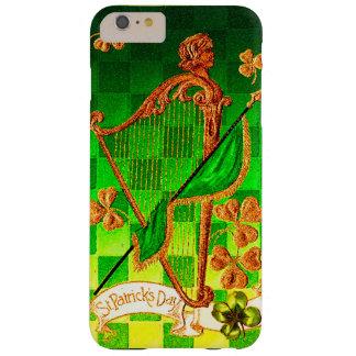 IRISH HARP, GREEN GOLD SHAMROCKS St Patrick's Day Barely There iPhone 6 Plus Case