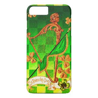 IRISH HARP, GREEN GOLD SHAMROCKS St Patrick's Day iPhone 7 Plus Case