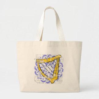 Irish Harp Light Tote Bag
