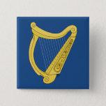 Irish Harp Pinback Button