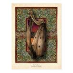 Irish Harp Postcard