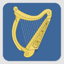 Irish Harp Square Sticker