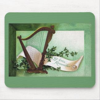Irish Harp Vintage St Patrick s Day Mousepad