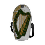 Irish Harp w/ Poppies and gold Leaves - 1 Courier Bags