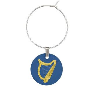 Irish Harp Wine Charm