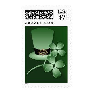 Irish Hat and Shamrocks Postage