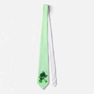Irish Hat and Shamrocks Tie