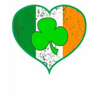 Irish Heart $28.95 Army Green Ladies LS Tee shirt