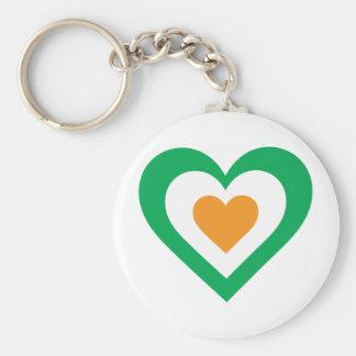 Irish Heart Basic Round Button Keychain