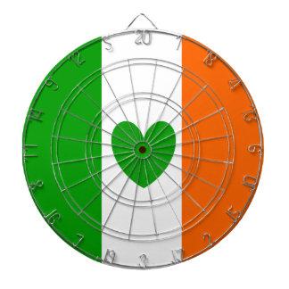 Irish Heart Dartboard With Darts
