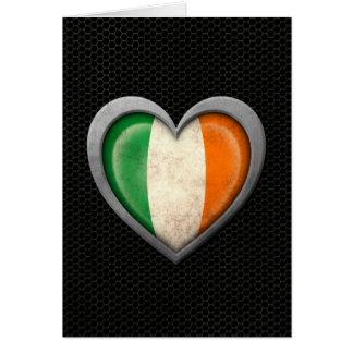 Irish Heart Flag Steel Mesh Effect Cards