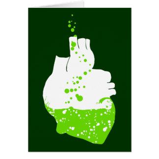 irish heart of green beer card