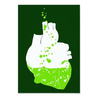irish heart of green beer 3.5x5 paper invitation card