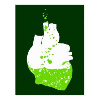 irish heart of green beer postcard