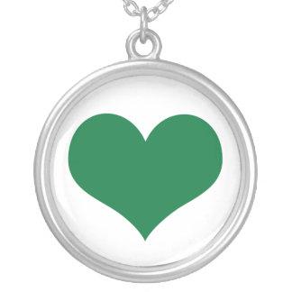 Irish Heart Round Pendant Necklace