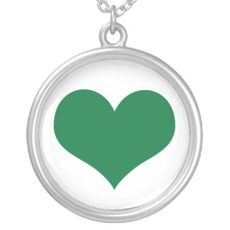 Irish Heart Silver Plated Necklace