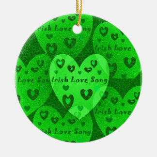 Irish Hearts Lucky St. Pat's Day Collection Ceramic Ornament