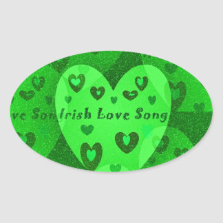 Irish Hearts Lucky St. Pat's Day Collection Oval Sticker