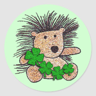 Irish Hedgehog! Classic Round Sticker