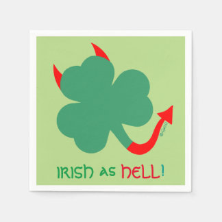 Irish Heritage Unique Shamrock St Patrick's Day Paper Napkin