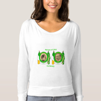 Irish Heroes for Women's-Flowy-Off-Shoulder-Shirt T-shirt