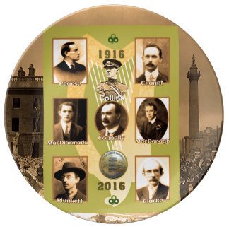 Irish Heroes image for Decorative-Porcelain-Plate Dinner Plate