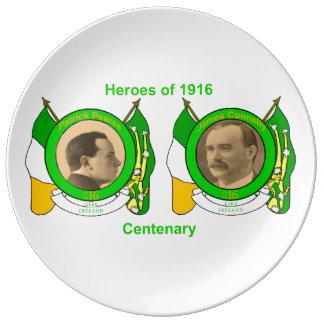 Irish Heroes image for Decorative-Porcelain-Plate Porcelain Plate