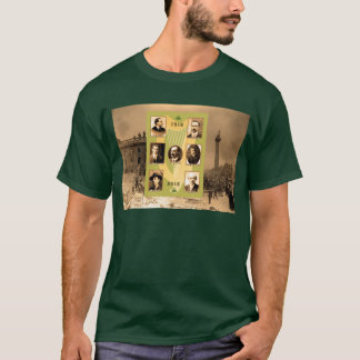 Irish Heroes image for Men's-Dark-T-Shirt-Green T-Shirt