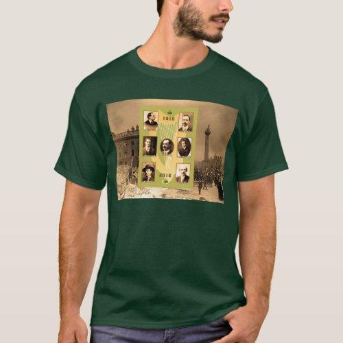 Irish Heroes image for Mens_Dark_T_Shirt_Green T_Shirt