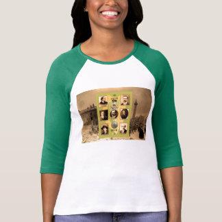 Irish Heroes image for Women's-T-Shirt-White-Green T-Shirt