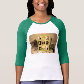 Irish Heroes image for Women's-T-Shirt-White-Green T-Shirt