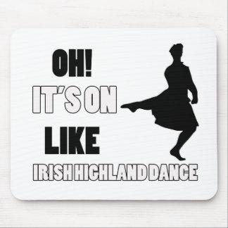 Irish Highland Dance Designs Mouse Pad