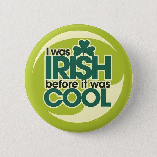 Irish Hipster Button