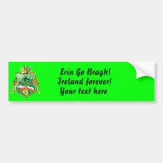 Irish History Shield View Story Below Bumper Sticker