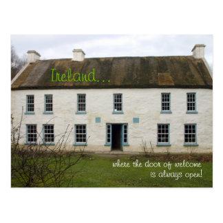Irish home: Our door is always open postcard