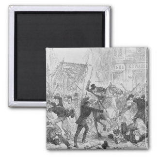 Irish Home Rule Riots in Glasgow, c.1880s 2 Inch Square Magnet
