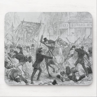 Irish Home Rule Riots in Glasgow, c.1880s Mouse Pad