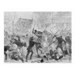 Irish Home Rule Riots in Glasgow, c.1880s Postcard