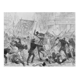 Irish Home Rule Riots in Glasgow, c.1880s Postcard