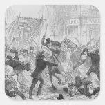 Irish Home Rule Riots in Glasgow, c.1880s Square Sticker