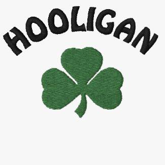 Irish Hooligan Green Embroiderd Shirt